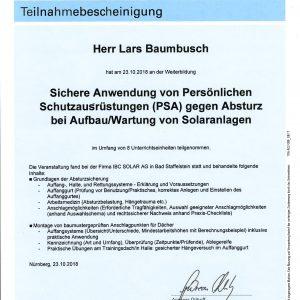Teilnahmebescheinigung_TÜVRheinland_Schutzausrüstung_Baumbusch,Lars-1