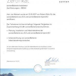 Zertifikat_Sonnen_Sonnenbatterie_Weinert,Jan-1