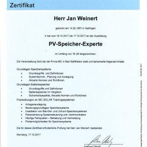 Zertifikat_TÜVRheinland_PV-Speicher-Experte_Weinert,Jan-1